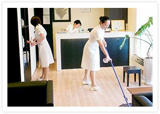 清潔な店内に徹底した衛生管理